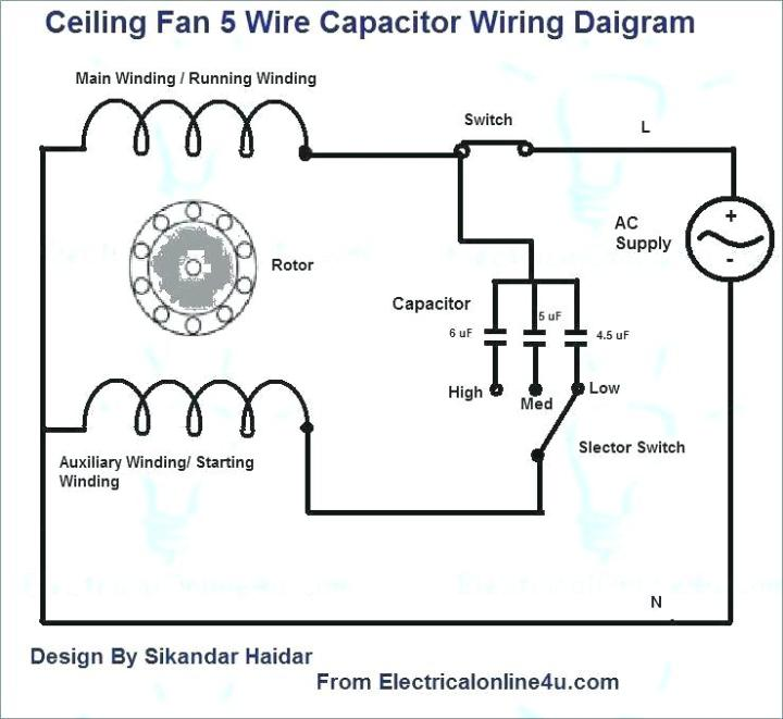 Ceiling Fan Circuit With Capacitor