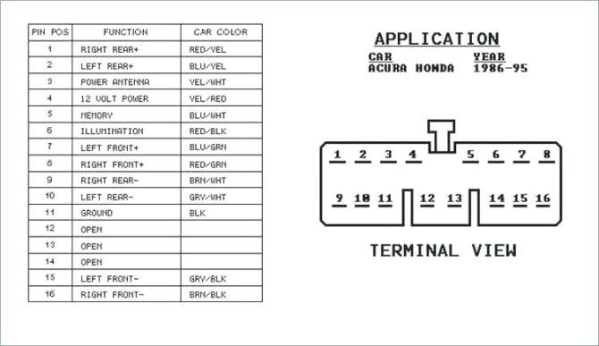 1995 honda civic stereo wiring  wiring diagram for 1994