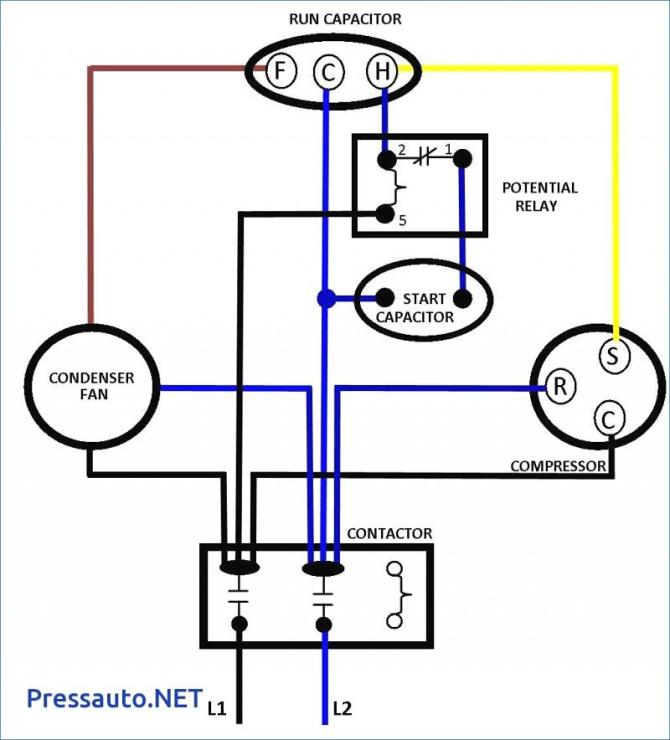 air conditioner capacitor wiring diagram  wiring harness