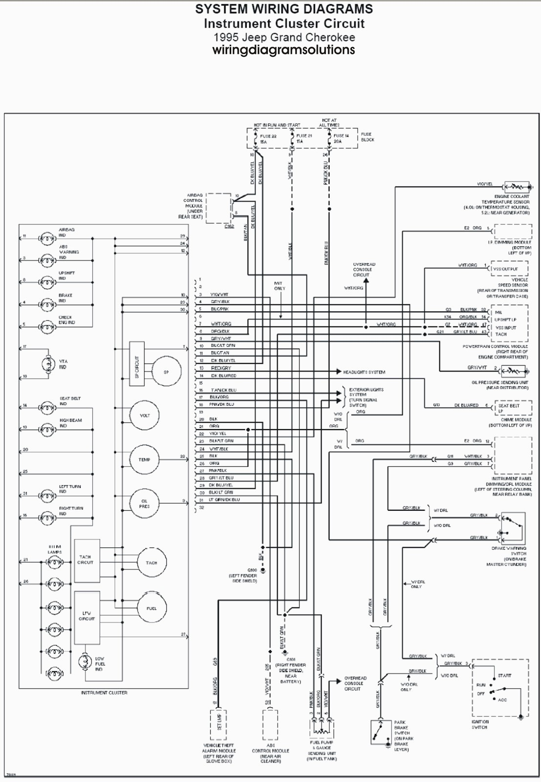 Radio Wiring Diagram For Jeep Cherokee