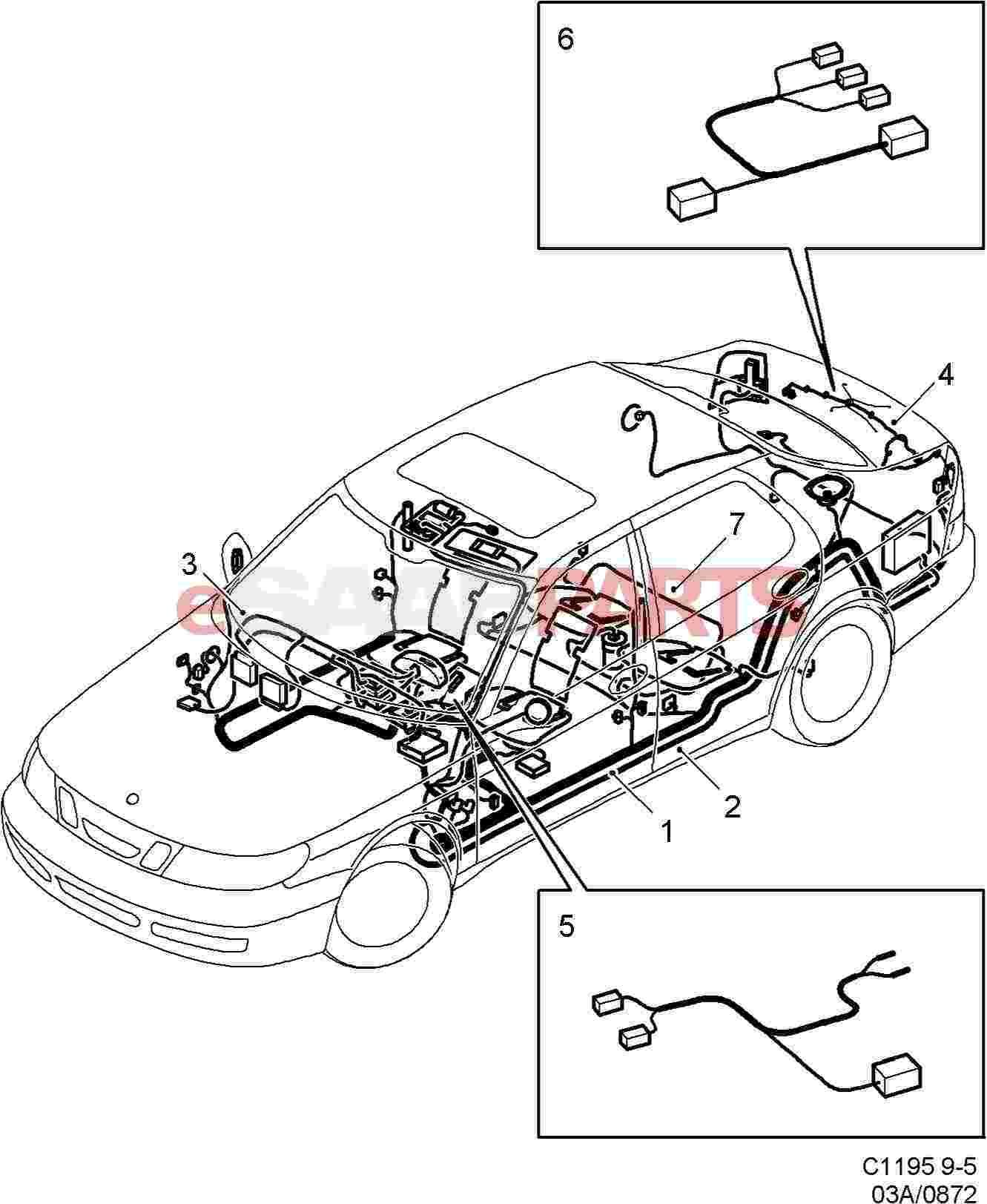 Lh Saab Towbar Wiring Diagram Schematic Wiring