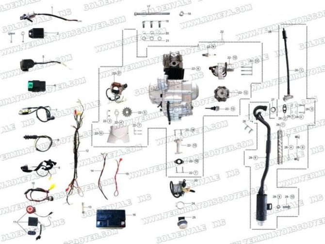 hc8579 apc mini chopper wiring harness schematic wiring