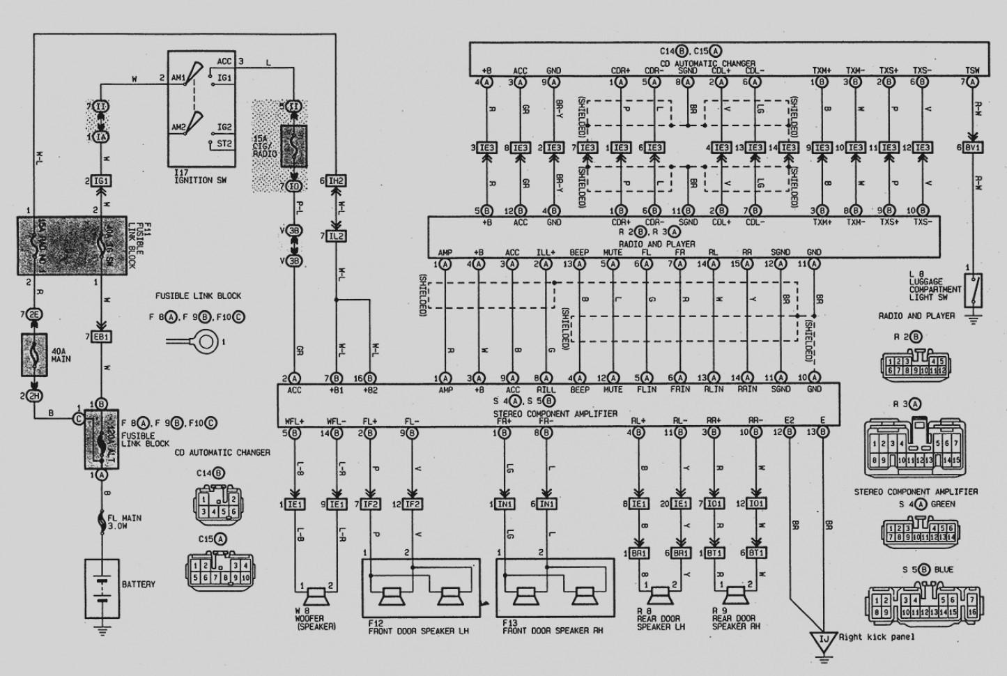 Toyota Avalon Radio Wiring Diagram