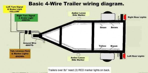 4 prong trailer wiring harness diagram  fishing boat 12
