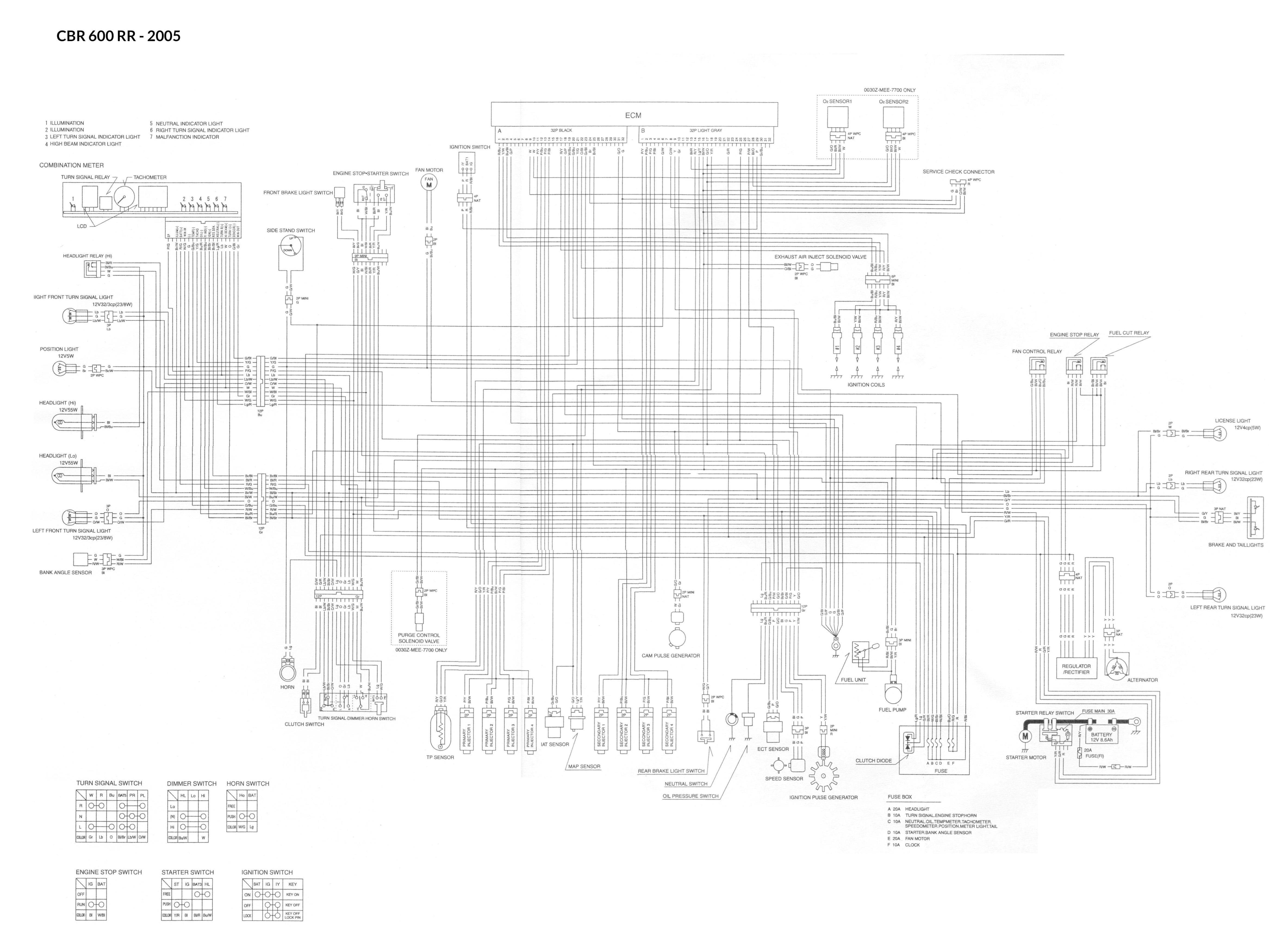Wiring Schematic Diagram For A Cbr600rr