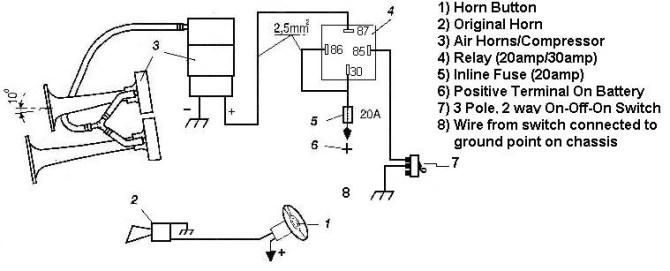 ld9897 wiring up air horn schematic wiring
