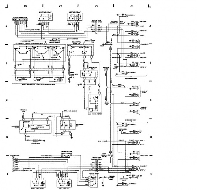 2001 jeep grand cherokee brake light wiring diagram  basic