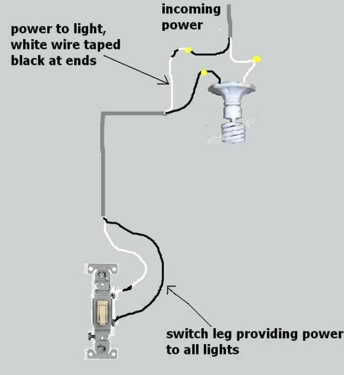 single pole light wiring diagram  1966 mustang ignition