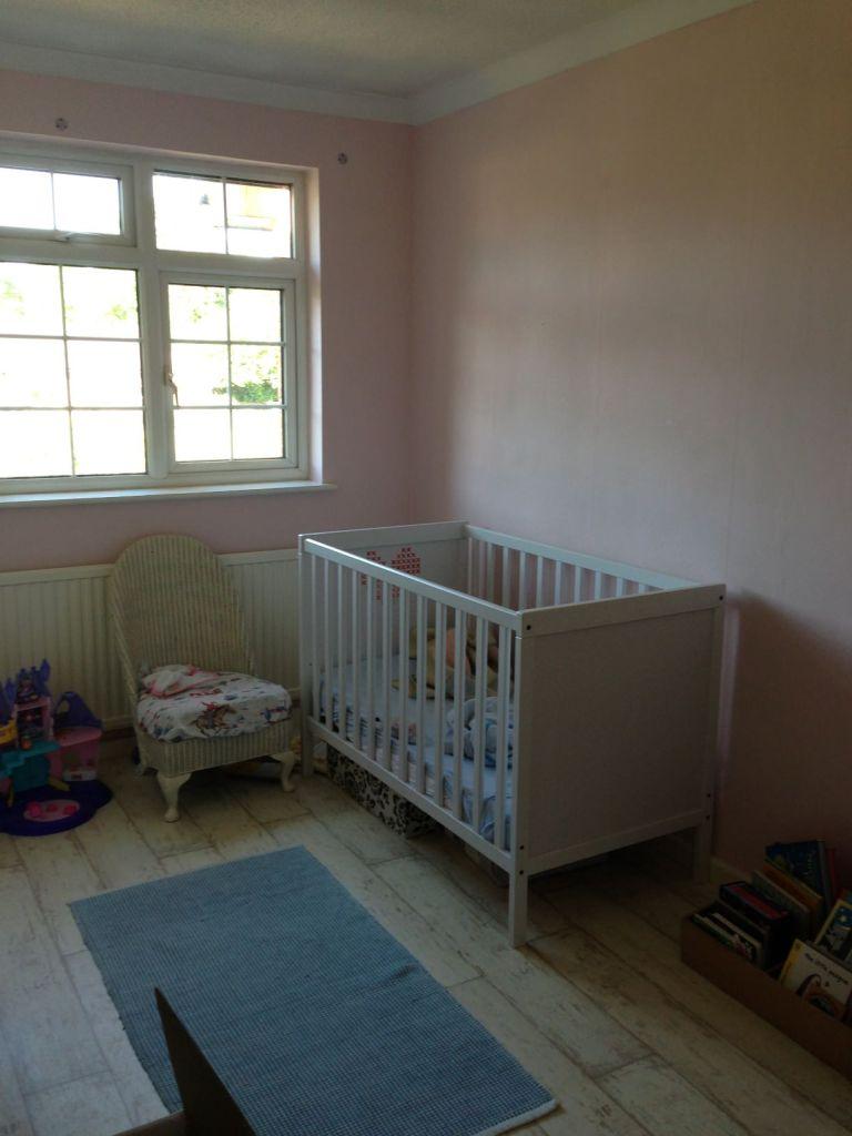 a pink nursery