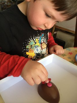 decorating Easter eggs 2