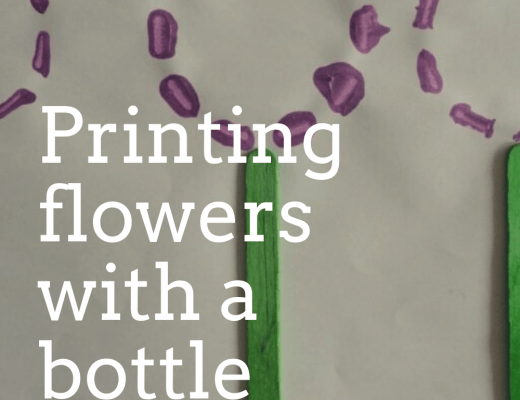 Printing flowers with a bottle