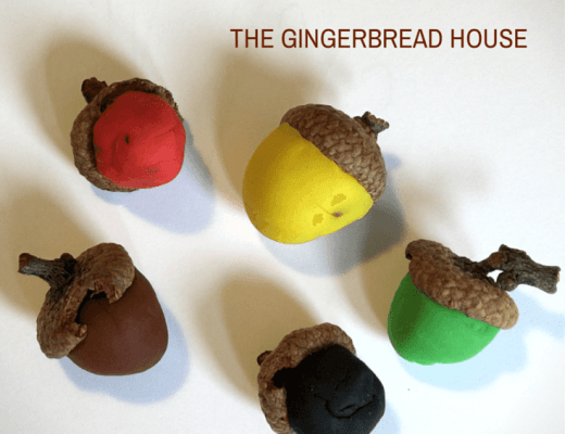 play dough acorns - the gingerbread house