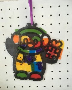 Penguin Stained Glass Effect Hanging Decorations