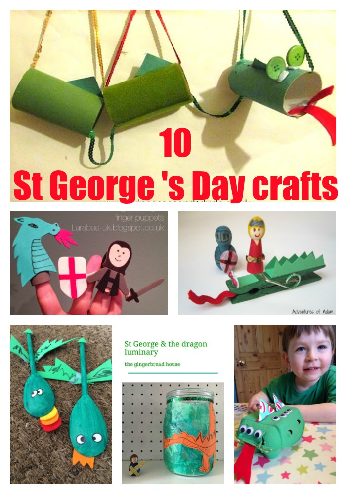 10 Crafts For St Georges Day