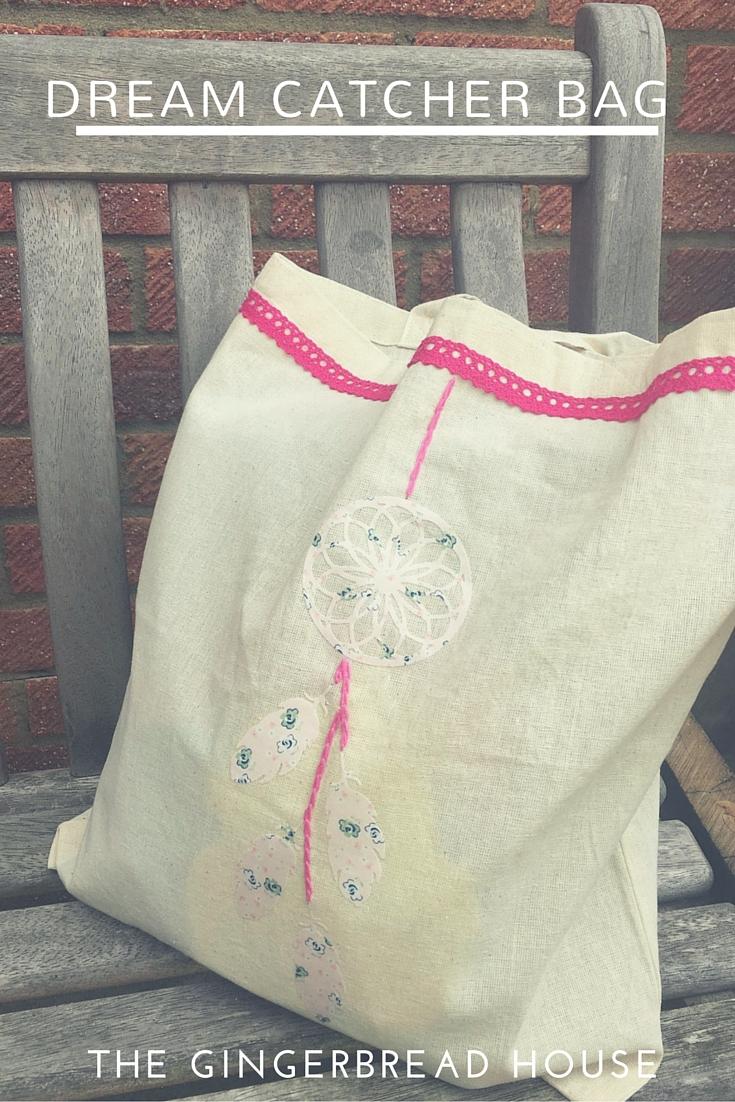 Simple dream catcher tote bag