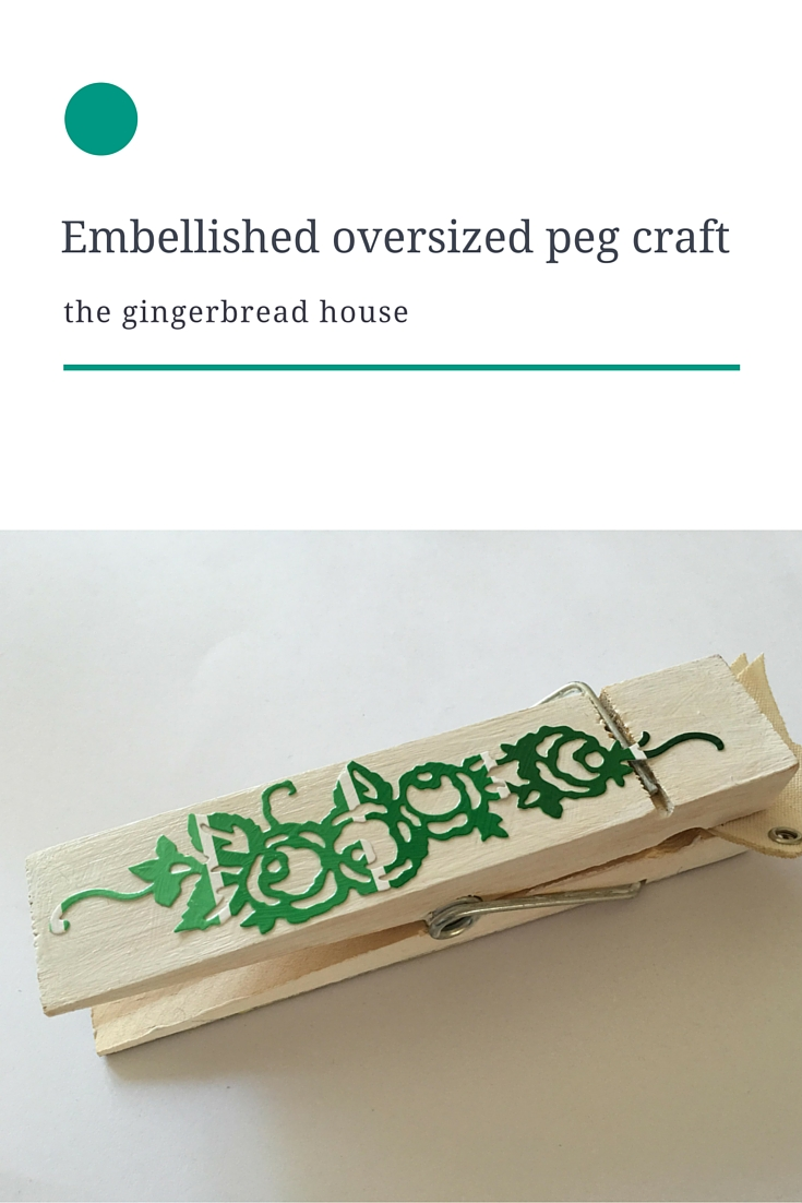 Embellished oversized peg