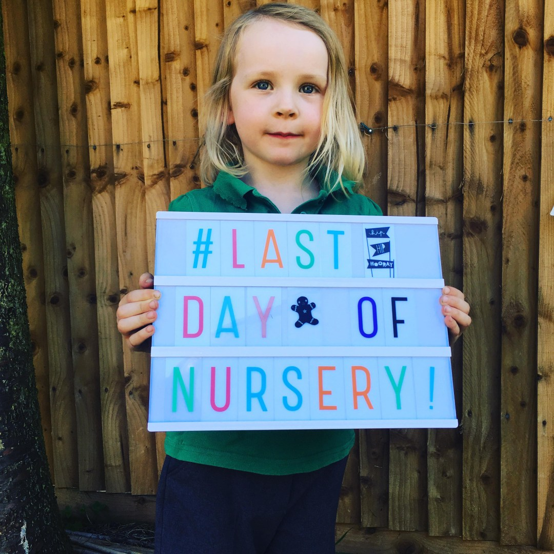 last day of nursery picture