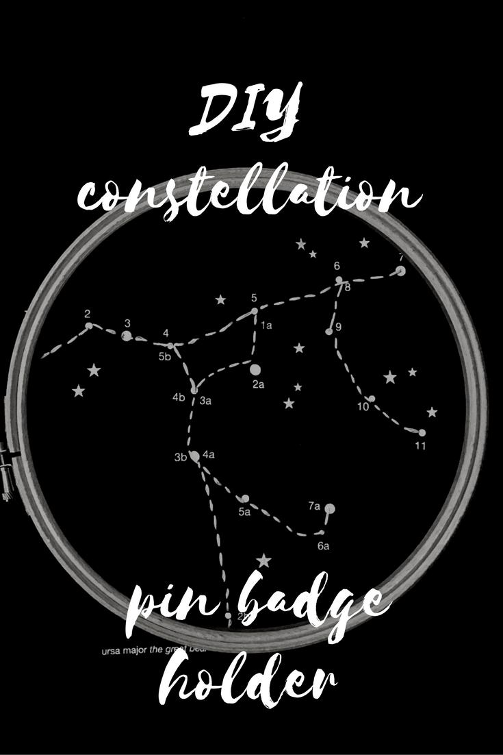 DIY constellation pin badge holder