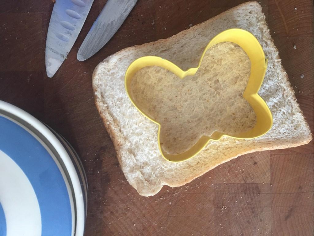 butterfly ham sandwich