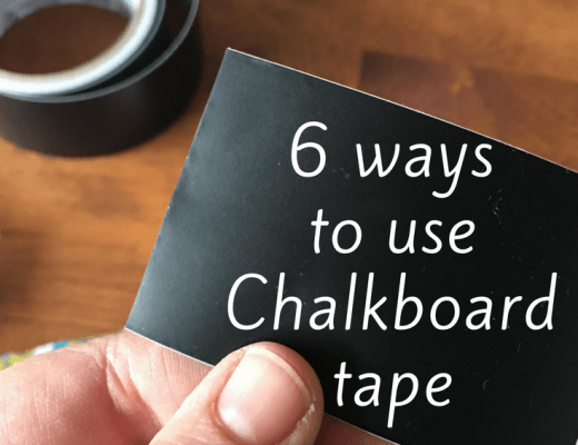 6 ways to use Duck Tape Chalkboard tape
