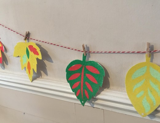 autumn leaves banner for kids