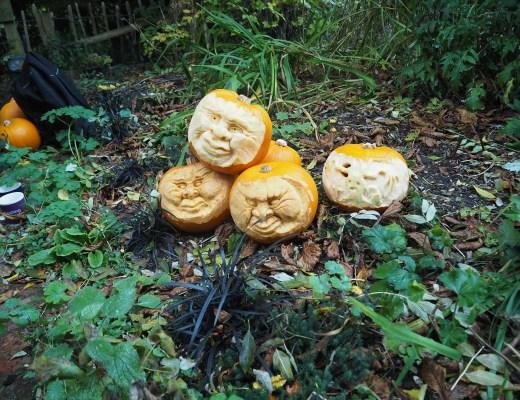 Pumpkin carving at Hughenden Manor