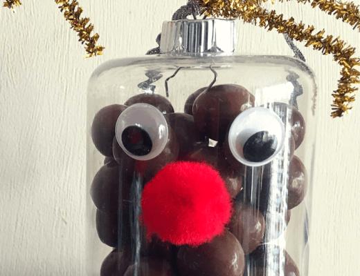 Reindeer nose ornaments for kids to make