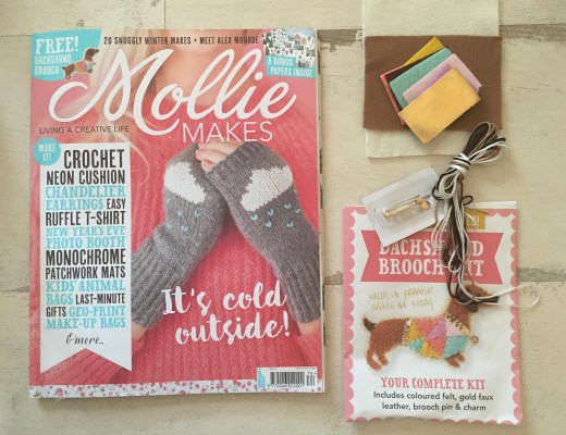 Issue 74 Mollie Makes Dachshund Brooch Kit