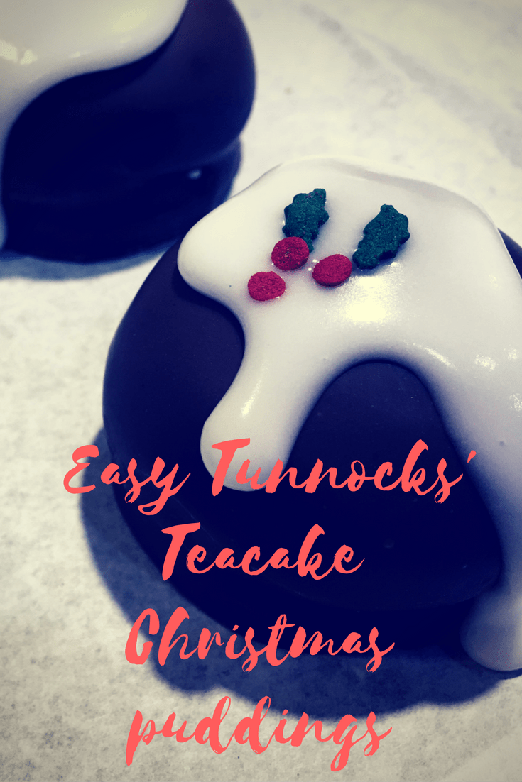 Easy Tunnocks Teacake Christmas puddings