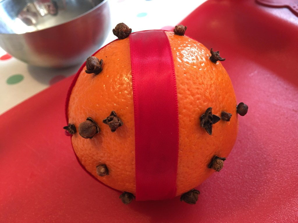 easy winter pomander for kids to make