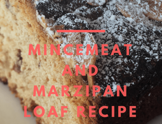 Mincemeat and marzipan loaf {a brilliant way to use up mincemeat}