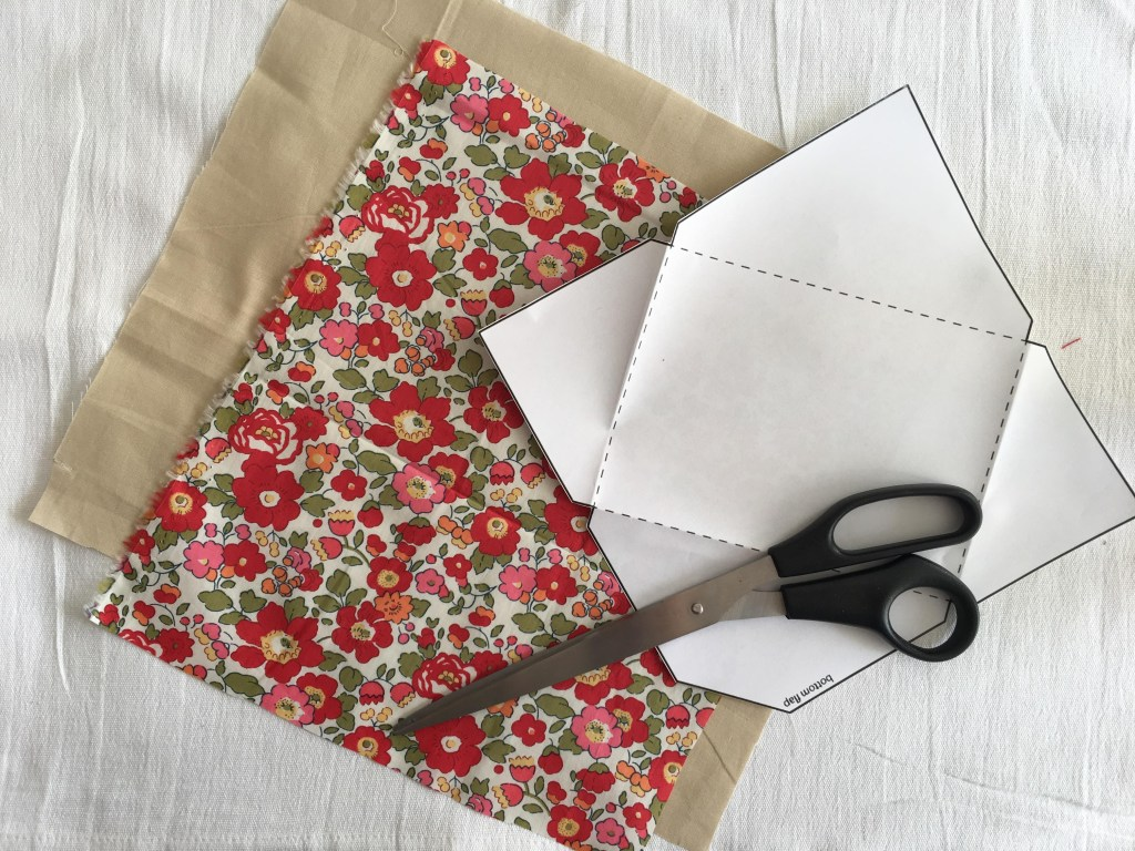 fabric envelope for a Valentine