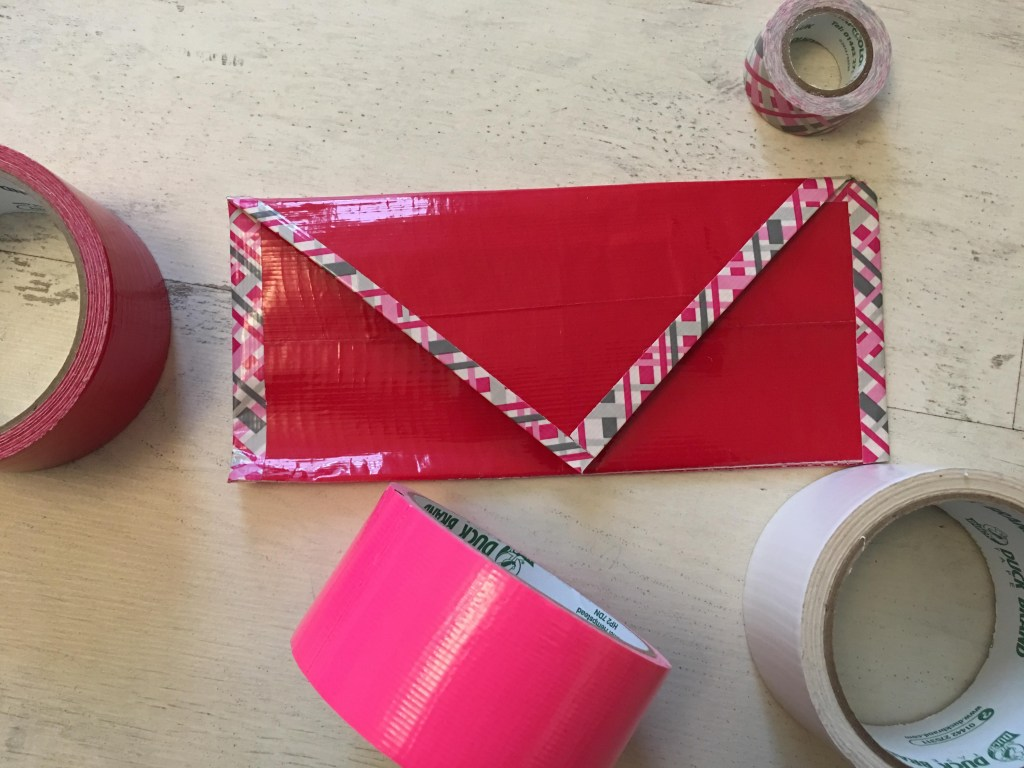 Duck Tape Valentine envelopes