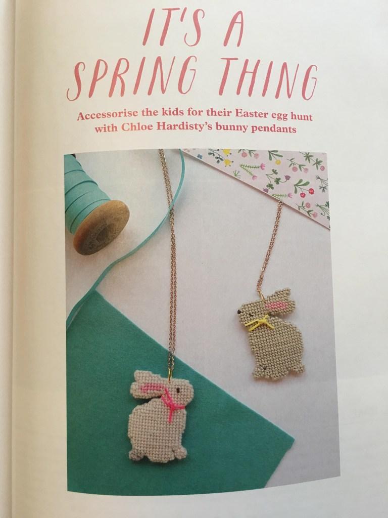 bunny pendants by Chloe Hardistry