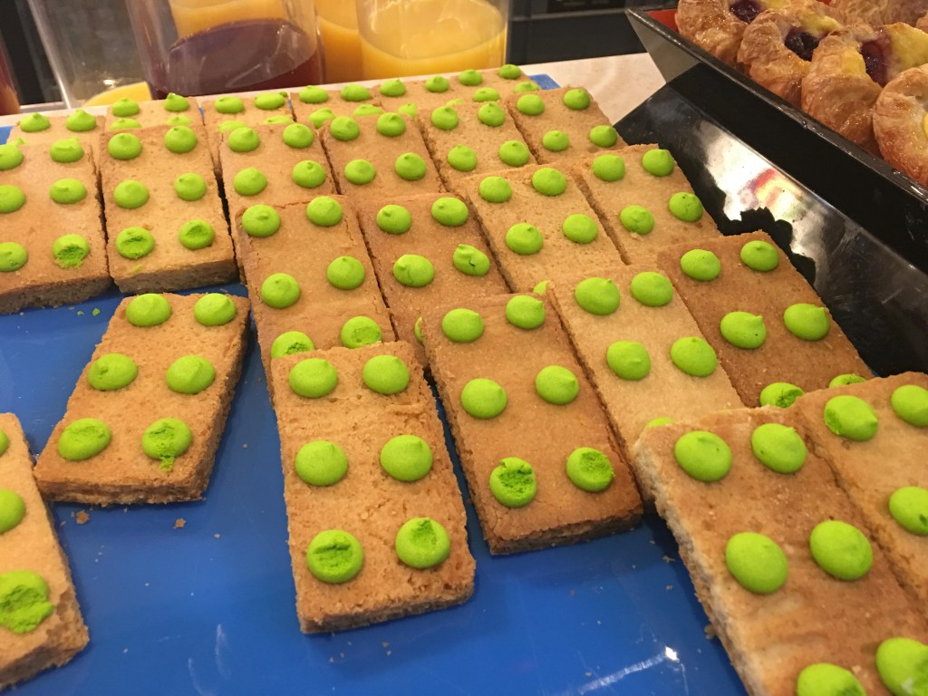lego biscuits at The Lego Batman Movie