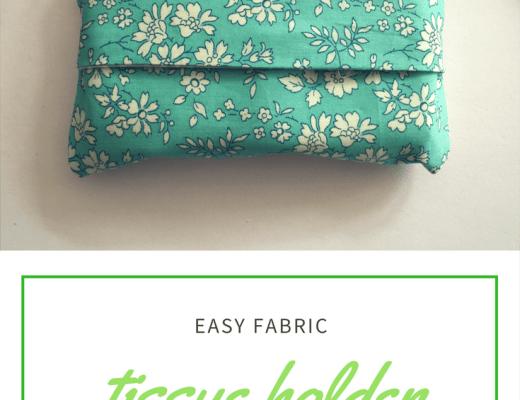 easy fabric tissue holder tutorial