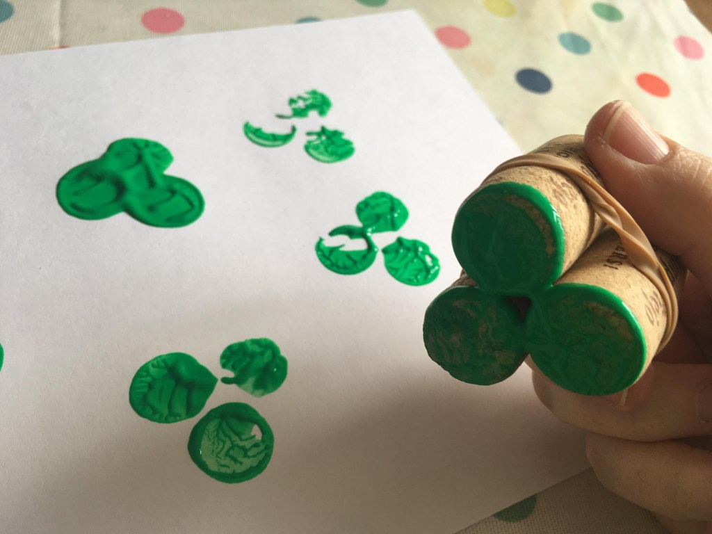 St Patrick's Day cork craft for kids