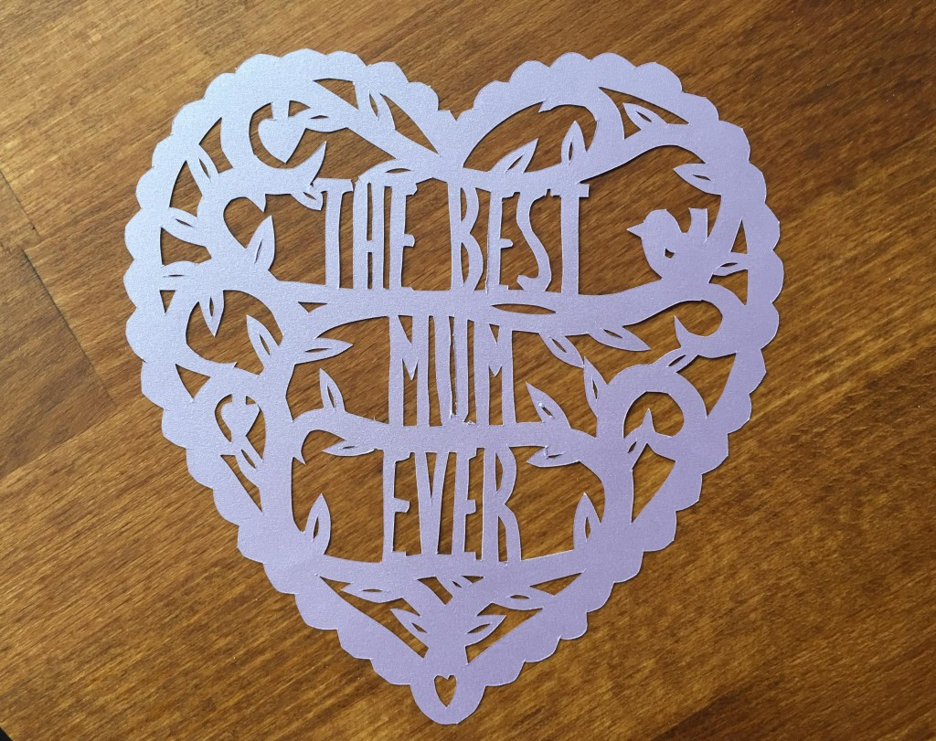 Mother's Day papercut free template