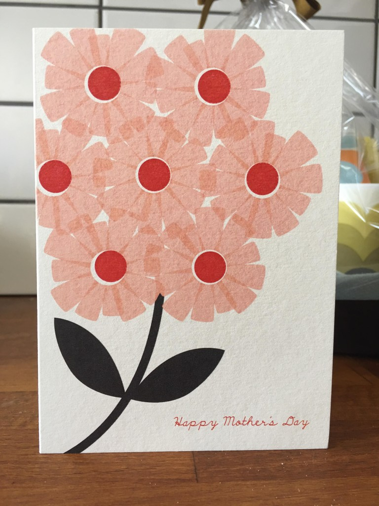 Orla Kiely Mother's Day card