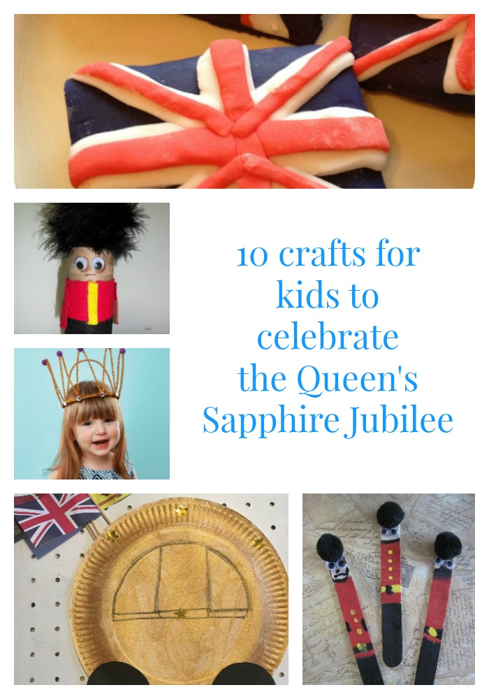 crafts for kids to celebrate the Queen's Sapphire Jubilee
