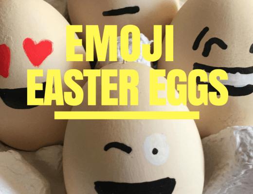 DIY Emoji Easter eggs for kids