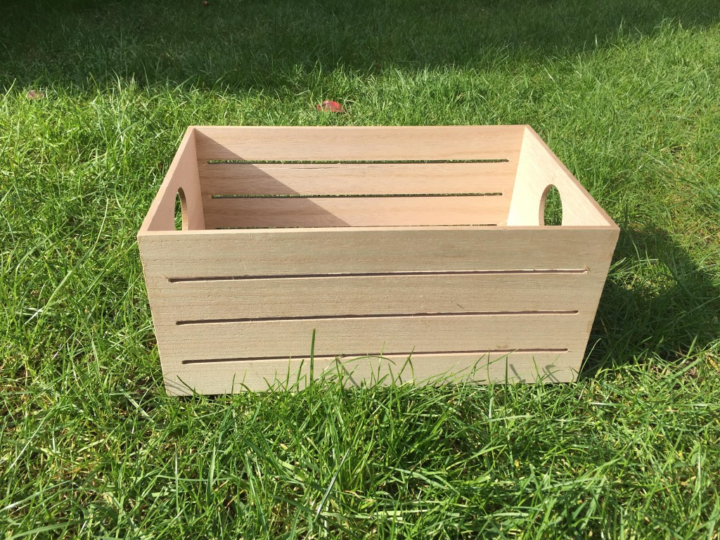 wooden crate from Tiger Stores