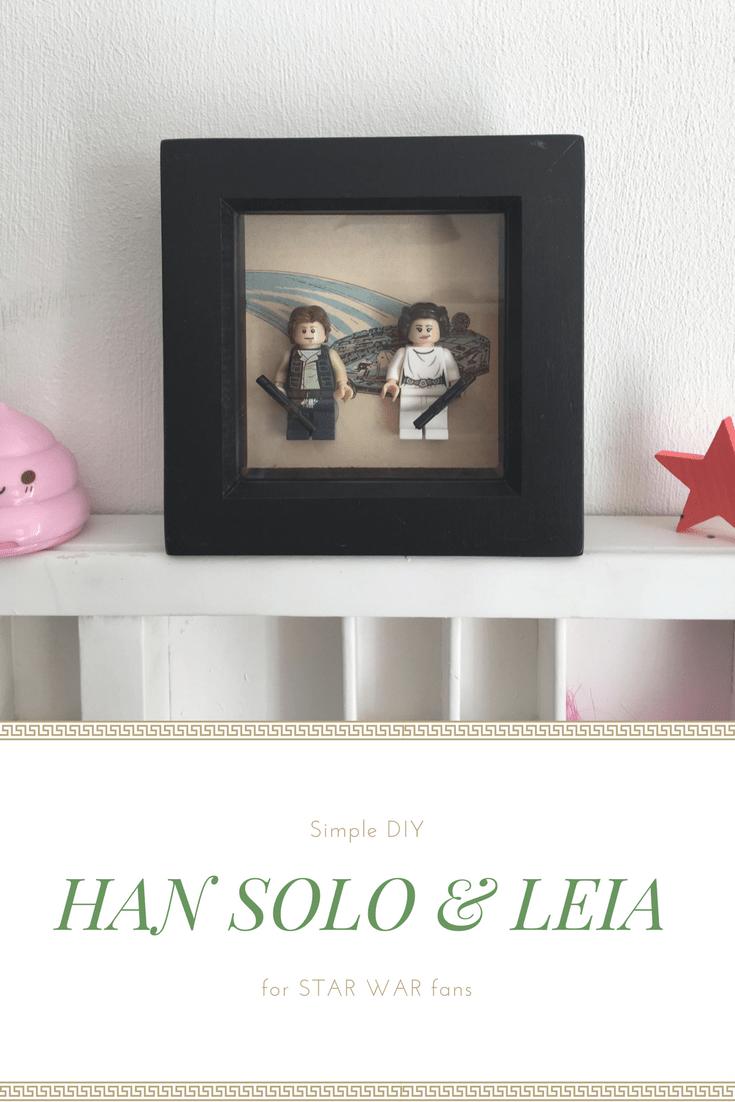 DIY Leia and Hans Solo frame