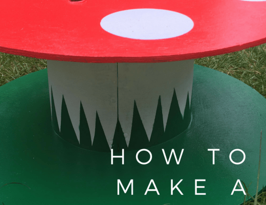 How to make a cable reel fairy house