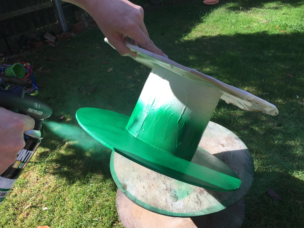 how to upcycle a cable reel into a fairy toadstool