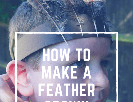 how to make a Feather crown craft