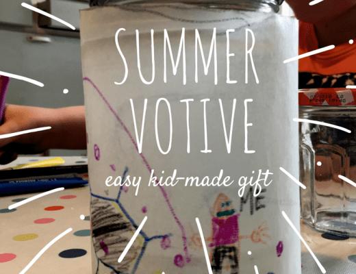 easy Summer votive craft for kids