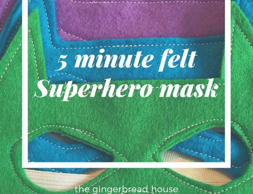 Five minute felt superhero masks