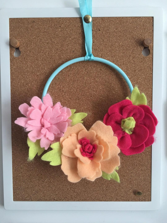 felt flower wreath kit