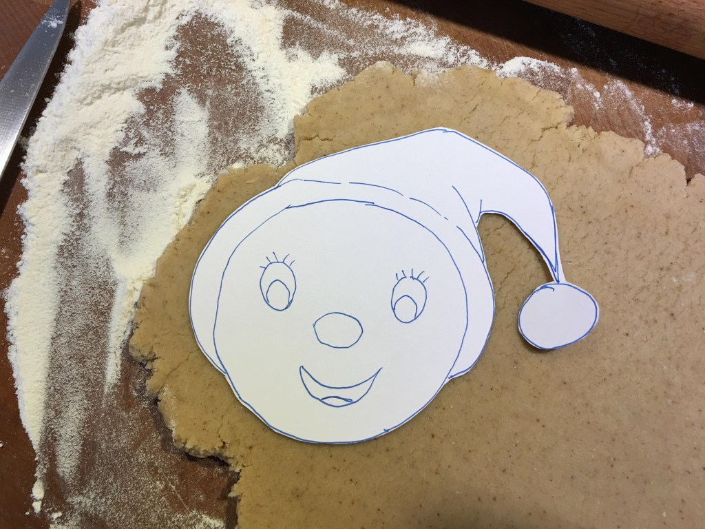 Noddy inspired gingerbread biscuits